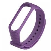 Ремешок силиконовый ребристый для Xiaomi Mi Band 3/4 фиолетовый
