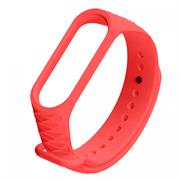 Ремешок силиконовый ребристый для Xiaomi Mi Band 3/4 красный