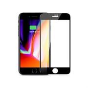 Защитное стекло для iPhone 7/8 Joyroom 0.3мм глянцевое, силиконовые края, черный (JM3033)