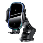 Автомобильный держатель с беспроводной зарядкой Baseus Light Electric Holder Wireless Charger (WXHW03-01) черный