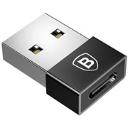 Переходник Baseus Exquisite USB Male to Type-C Female Adapter Converter (CATJQ-A01) черный