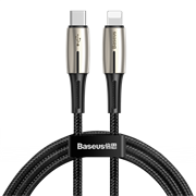 Кабель Baseus Waterdrop Data Cable Type-C - Lightning PD 18W 1,3 м черный/серый (CATLRD-01)