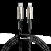 Кабель Baseus Waterdrop Data Cable Type-C - Lightning PD 18W 1,3 м черный/серый (CATLRD-01)