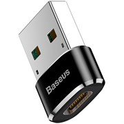 Переходник Baseus Mini Type-C female to USB male adapter converter (CAAOTG-01) черный