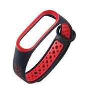 Перфорированный ремешок для Xiaomi Mi Band 3/4 NIKE черный/красный