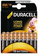 Батарейка Duracell AAA Basic LR03 18 шт