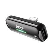Ауди-переходник Hoco LS27 Dual Lightning черный