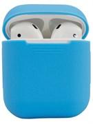 Чехол-футляр для Apple Airpods case Cheap silicone голубой