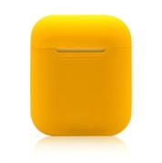 Чехол-футляр для Apple Airpods case Cheap silicone желтый