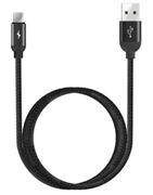 Кабель WiWU G10 Micro USB 1,2м черный