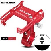Велосипедный держатель для телефона GUB P10 красный