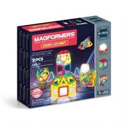 Магнитный конструктор MAGFORMERS 31 Neon Led set 709007