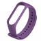 Ремешок силиконовый ребристый для Xiaomi Mi Band 3/4 фиолетовый - фото 15939
